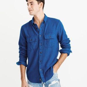 Abercrombie slim fit flannel button down t…
